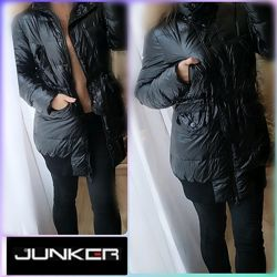 М-Л Junker Пуховик зимняя куртка пальто натуральный  пух перо