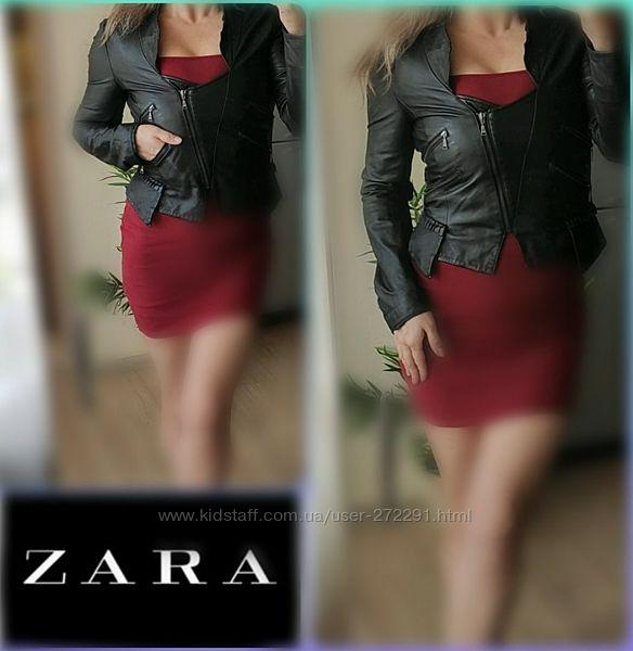 S-M Zara нат. Кожа Куртка, кожанка, косуха, кожаная