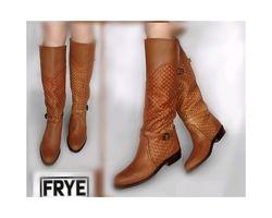 36-37р Кожа Новые Frye Америка Оригинал кожаные высокие сапоги