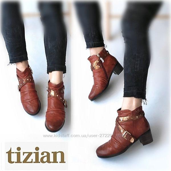 37-38р Кожа Новые Италия Tizian кожаные  ботинки утеплены