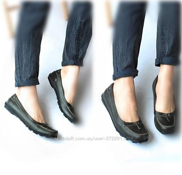 41р Кожа Новые  кожаные оливковые туфли мокасины