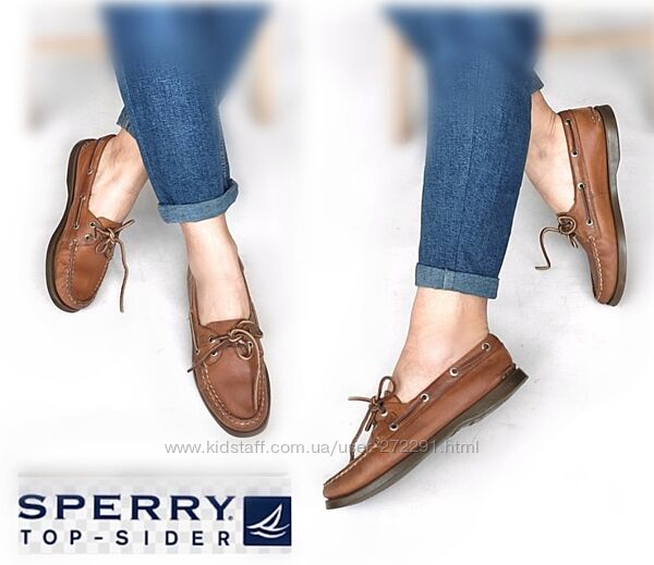 37р Кожа Sperry top-sider Оригинал кожаные топсайдеры мокасины туфли