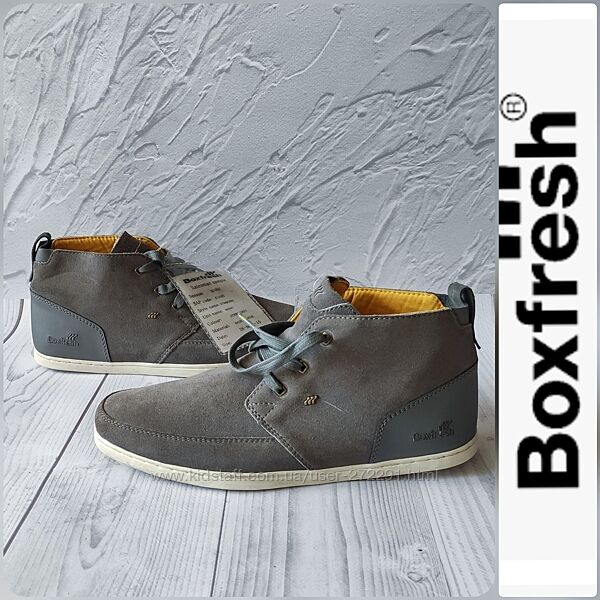 41-42р Замша Новые Англия Boxfresh серые замшевые ботинки мокасины