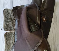 37-38р Кожа Новые Ixxo Франция, ботфорты, высокие сапоги с эффектом старения