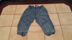Фирменные джинсовые бриджи для девочки размер 122