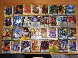 Карточки Бакуган металлические и обычные