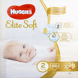 Подгузники, памперсы Huggies Elite Soft 2  4-6 кг   88 шт