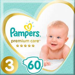 Подгузники Pampers Premium Care Размер 3 Midi 6-10 кг 60 штук
