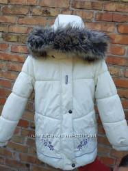 Зимняя куртка Lenne молочного цвета, 122 размер