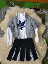 Набор в школу юбка, реглан и жилетка