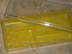 Футляр для мыла щетки 10х22 см пластик