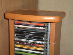Стойка для CD-DVD 90шт. напольная с полочкой