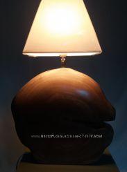 Лампа настільна дерево