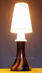 Лампа настільна гутне скло