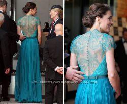 Нарядное кружевное платье Бирюза.