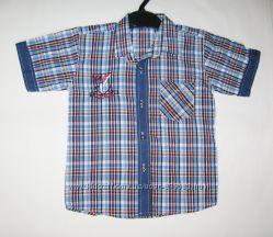 Рубашка Клетка рост 110-116см арт 3145