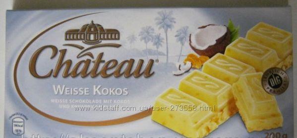 Белый шоколад с кокосом и хрустящими хлопьями 55грн