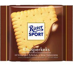шоколад Ritter sportи с печеньем 33грн