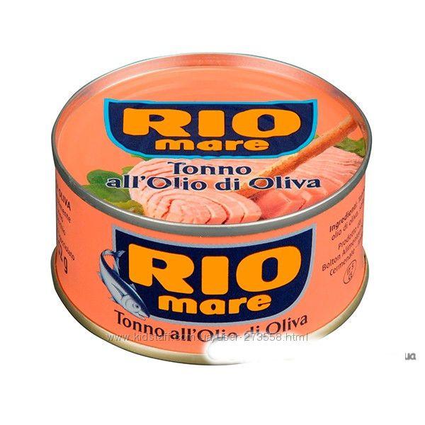 ТУНЕЦ RIO MARE  в масле и в собственном соку 80г-39грн, 240г-109грн