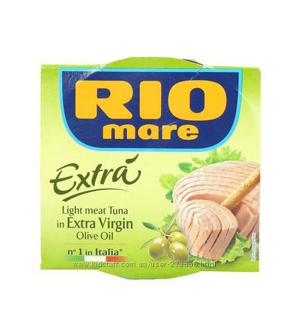 ТУНЕЦ RIO MARE  в масле EXTRA VIRGIN 80г-35грн