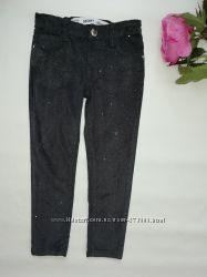 Джинсы вельветовые штаны с блестками denim co девочке 5-6лет