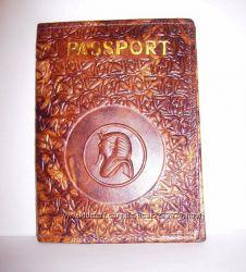 Обложка для паспорта, натуральная кожа, Египет