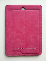 Розовый кожаный чехол на iPad Pro 9, 7.