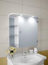 Шкаф-зеркало с LED подсветкой в ванную комнату в наличии. Большой выбор