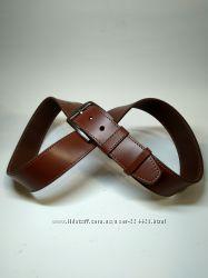 Мужской джинсовый кожаный коричневый ремень