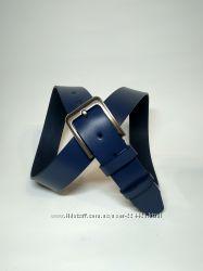 Мужской синий кожаный ремень