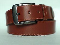 Мужской коричневый джинсовый кожаный ремень