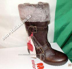 Сапоги детские кожаные фирмы Elefanten оригинал из Италии 27 размер