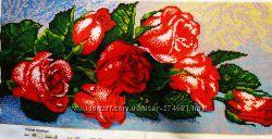 Картина вышитая чешским бисером Розовые розы