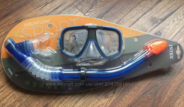 Набор маска  трубка для подводного плавания lntex