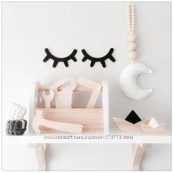 Деревянные реснички для декора детской комнаты