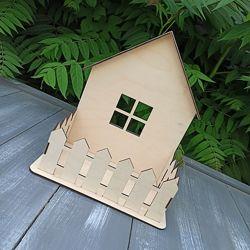 Стильный деревянный ящик, корзина, кашпо Домик для цветов и подарков
