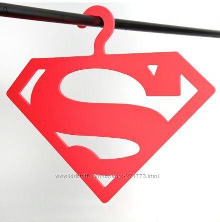 Детская вешалка, плечики, тремпель для одежды Супермен