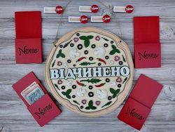 Аксессуары для кафе, паба, пиццерии бейдж, счетница, открытозакрыто, меню