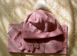Шапка, шарф и перчатки размер 122 Войчик