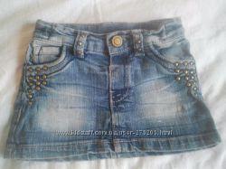Очень модная джинсовая юбочка на 1-1, 5 года