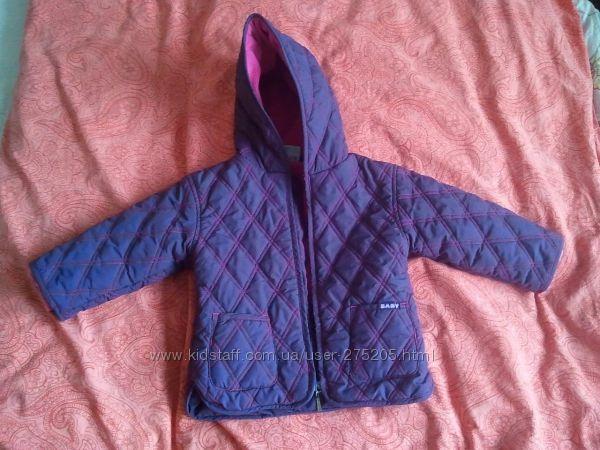 Яркая стеганная утепленная куртка Тopolino, на рост 86см