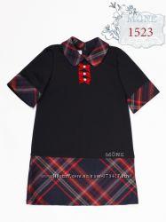 Школьная форма МОНЕ платье черное с красным