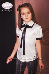 Школьная форма BABY ANGEL блузка молочная с бантом