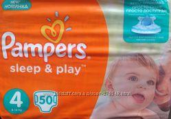 Акция Подгузники Pampers Sleep and Play 4 7-14кг 50шт.