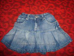 Джинсовая юбка на 140см