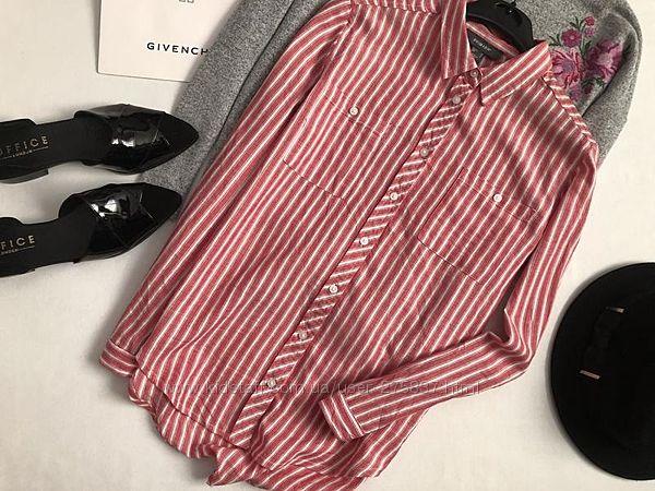 Стильная хлопковая рубашка в полоску primark