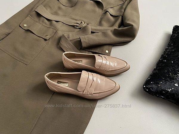 Идеальные пудровые туфли лоферы primark