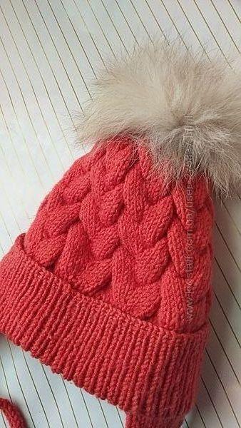 Набор теплая шапкаснуд, hand made