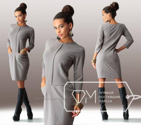 Фото платьев из трикотажа с длинным рукавом