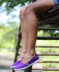 Фиолетовые эспадрильи, макасины , балетки или просто очень удобные тапочки